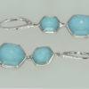 turquoise backed rock crystal earrings