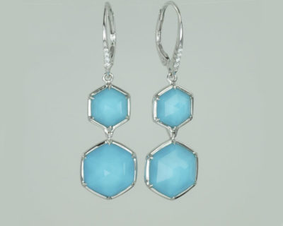 Stephen Wedster Turquoise & Diamond Earrings