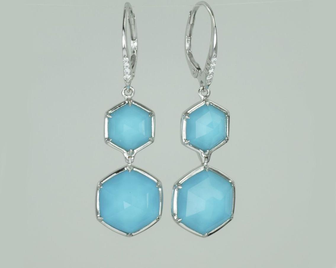 Stephen Webster earrings turquoise quartz drops