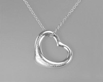 Elsa Peretti Platinum Diamond Heart Pendant