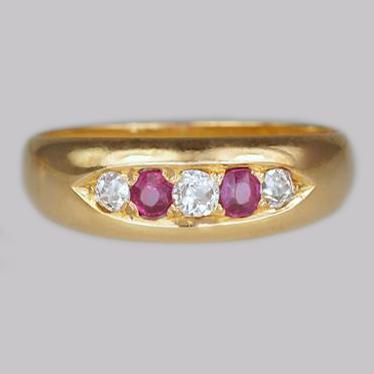Ruby & Diamond Gypsy Ring Chester 1884