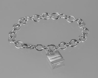 Tiffany Silver Shopping Bag Charm Bracelet