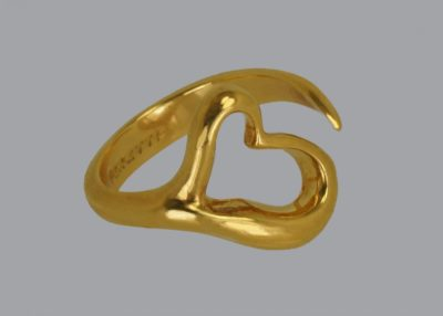 Tiffany Elsa Peretti 18K Open Heart Ring Size H