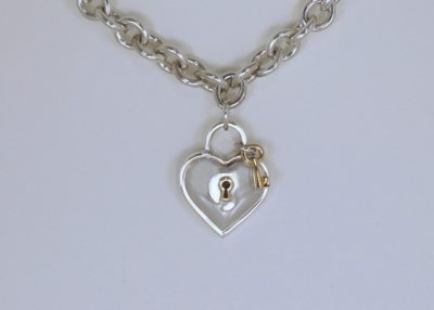Tiffany Necklace Love Lock and Gold Key