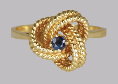 Vintage Tiffany Sapphire Woven Knot Ring