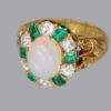 victorian ring with stones are set in an attractive corbeille
