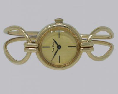 Vintage Roy King 9ct Gold Bangle Watch