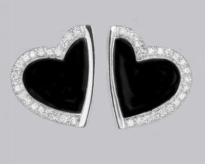 Roberto Coin 18K Diamond Heart Earrings