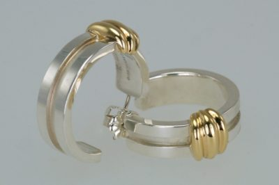Tiffany 18ct Gold & Silver Atlas Hoop Earrings