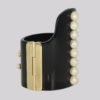 Chanel CC High Back Pearl Cuff