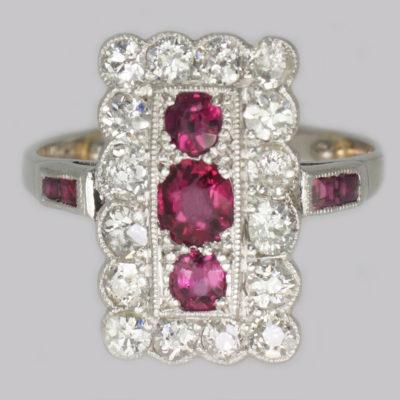 Art Deco Ruby & Diamond Ring