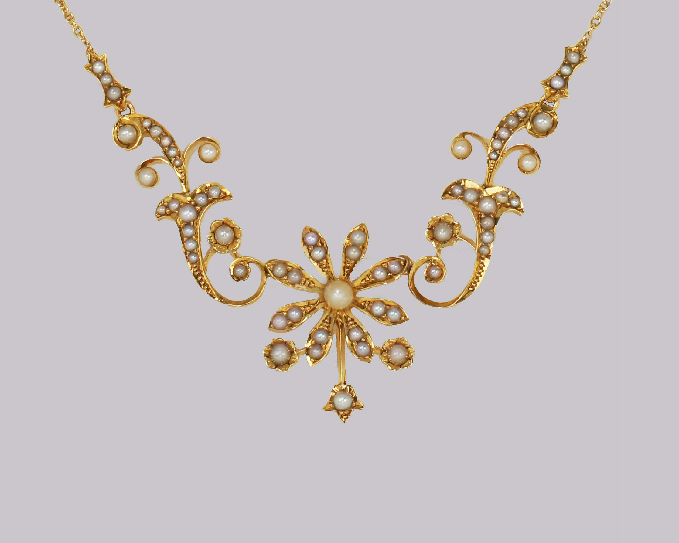 Gorgeous Edwardian seed pearl necklace