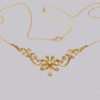Edwardian Seed Pearl Necklace 9ct Gold Antique Necklace circa 1910