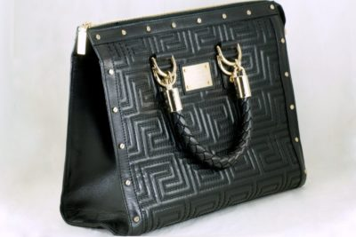 Gianni Versace Couture Greek Key Handbag