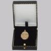 vintage 9ct gold Scroll locket in box