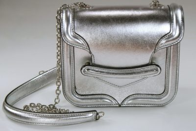 Alexander McQueen Metallic Mini Heroine Bag