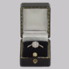 Edwardian Diamond Cluster Ring in box