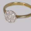 Edwardian Diamond Cluster Ring hallmarked