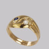 Stunning 18 carat gold double serpent ring