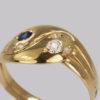 Antique Diamond & Sapphire Snake Ring