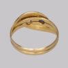 Antique Diamond & Sapphire Snake Ring 18 ct gold