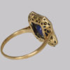 18ct gold & platinum French ring