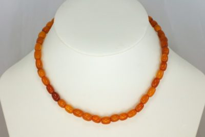 Antique Natural Amber Bead Necklace
