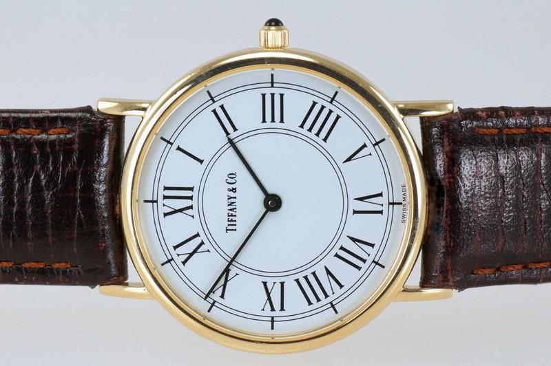 Tiffany & Co Gold 31mm Slim Quartz Watch