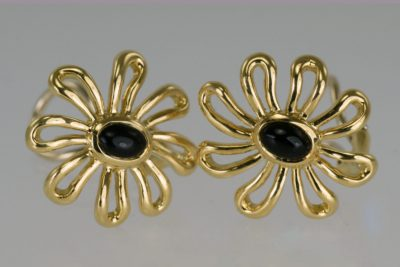 Paloma Picasso Tiffany Onyx Daisy Earrings