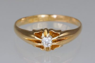 Antique Solitaire Old Cut Diamond Ring