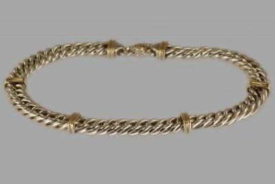 Tiffany 18ct Gold & Silver Heavy Chain Necklace