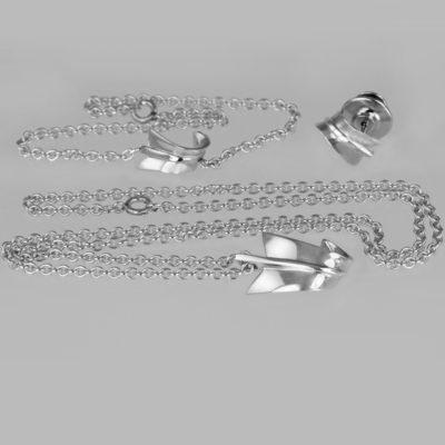 Tiffany Angela Cummings Silver Necklace Set