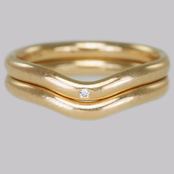 Tiffany Elsa Peretti Diamond Stacking Rings