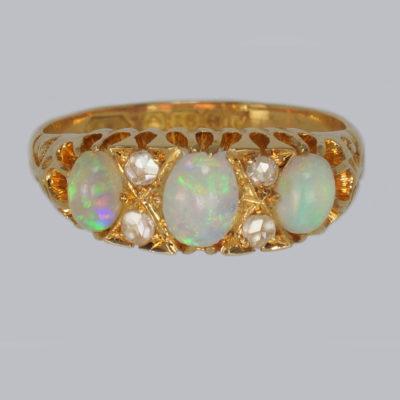 Opal & Diamond Victorian Ring 1870