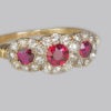 Ring gorgeous rich red rubies