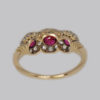Spectacular 18 carat gold ruby & diamond ring