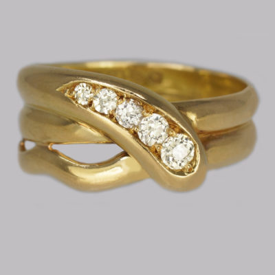Victorian Diamond Snake Ring