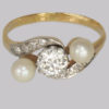 antique ring Swiss cut diamonds