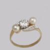 Diamond and platinum twist ring