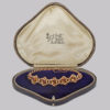 beautiful silk and velvet lined antique tooled leather presentation box in box