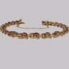 This antique bracelet dates to the late Victorian period