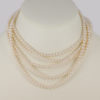 Edwardian Vintage Pearl Necklace with Diamond Clasp