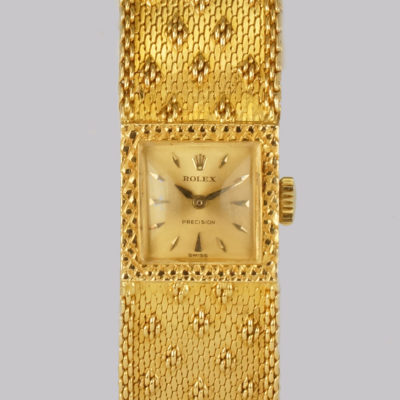 Vintage Rolex Precision 18ct Gold Bracelet Watch