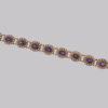 9 amethyst in pearl bracelet