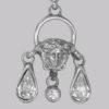 Gianni Versace Rhinestone Medusa Earrings