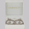 Gianni Versace Rhinestone Medusa Earrings in box