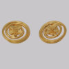 Vintage Chanel Gold Tone Clover Earrings
