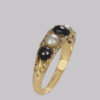 Stunning Victorian 18ct gold hand crafted pearl ring