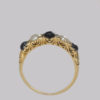 Antique 18ct Gold Pearl & Rose Cut Diamond Victorian Ring