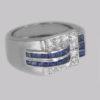 diamond & sapphire ring dates to the 1930s